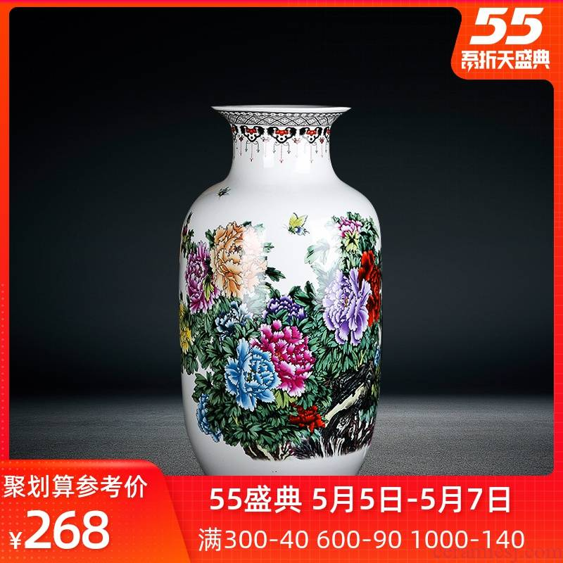 Jingdezhen porcelain, porcelain with a silver spoon in its ehrs expressions using the and peony home furnishing articles of large vases, flower arrangement sitting room decorates porch
