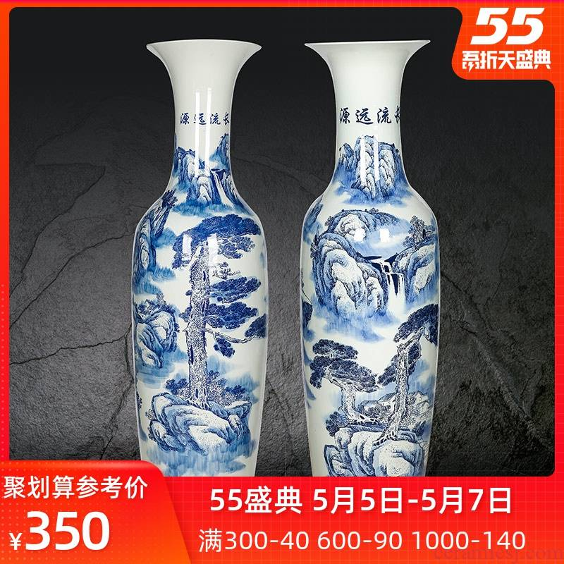 Blue and white porcelain of jingdezhen ceramics and goes back to ancient times Chinese style living room of large vase furnishing articles household