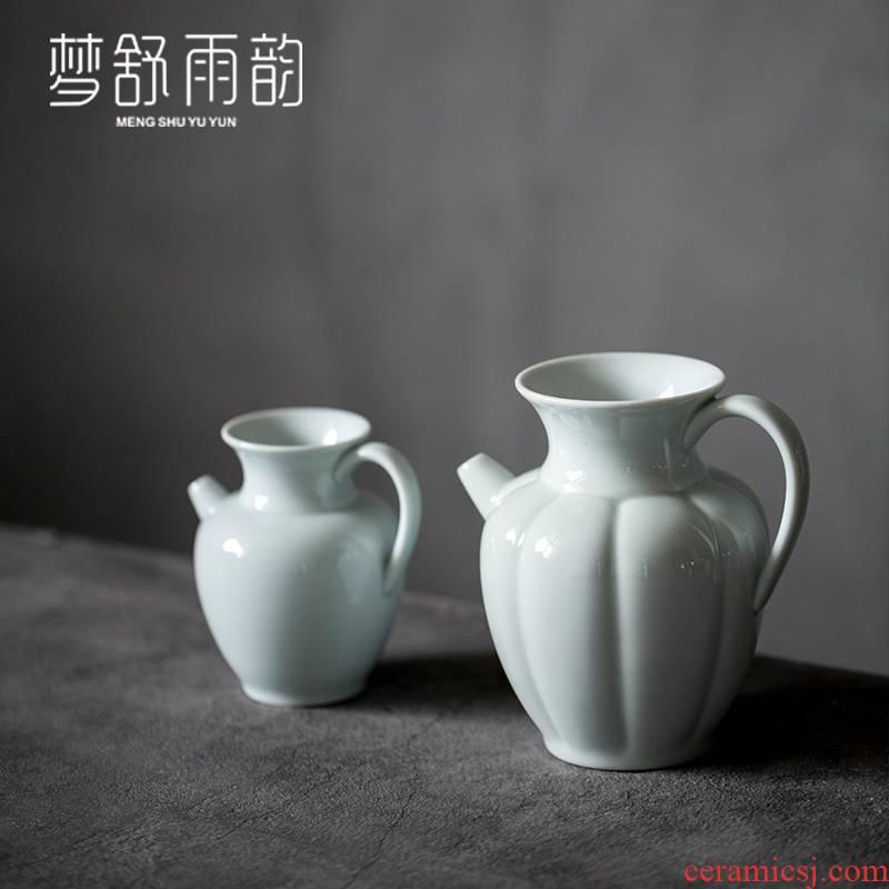 Dream ShuYu rhyme shadow tsing kung fu tea cup hot ceramic fair keller single proof points of tea, Japanese celadon