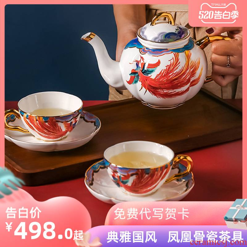 Ipads China coffee cups and saucers suit creative ceramic coffee set Chinese wind in the afternoon tea set suit household