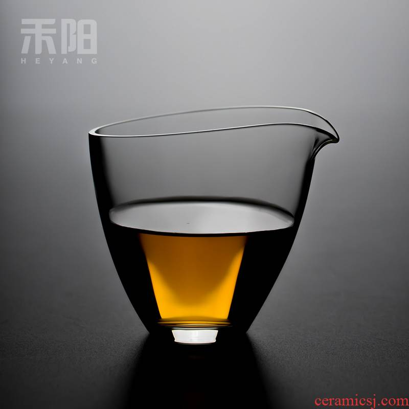 Send Yang fair Japanese checking glass cup and cup tea is tea sea household heat points kung fu tea set transparent contracted