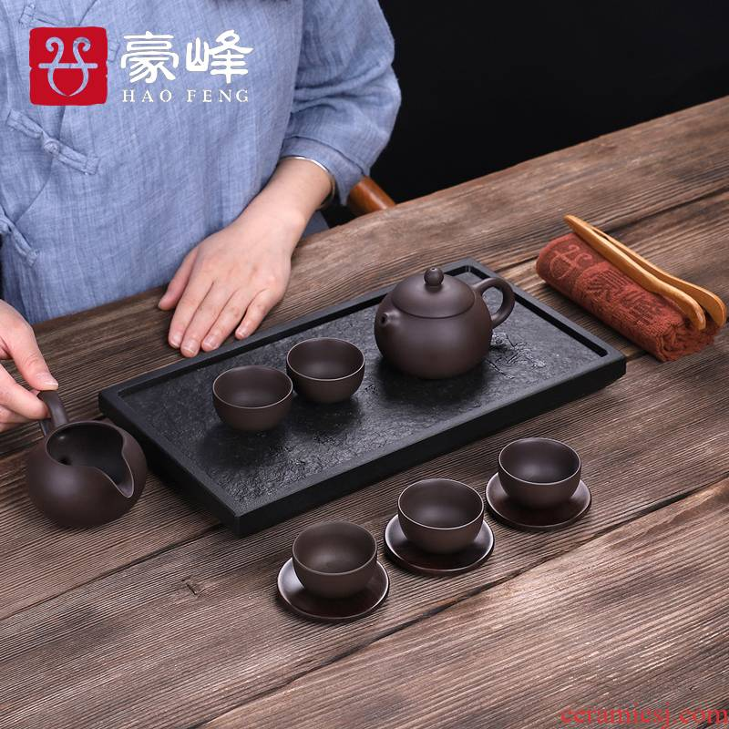 HaoFeng violet arenaceous stone tea tray was sharply suits for the natural stone tea sea stone small tea table are it tea set