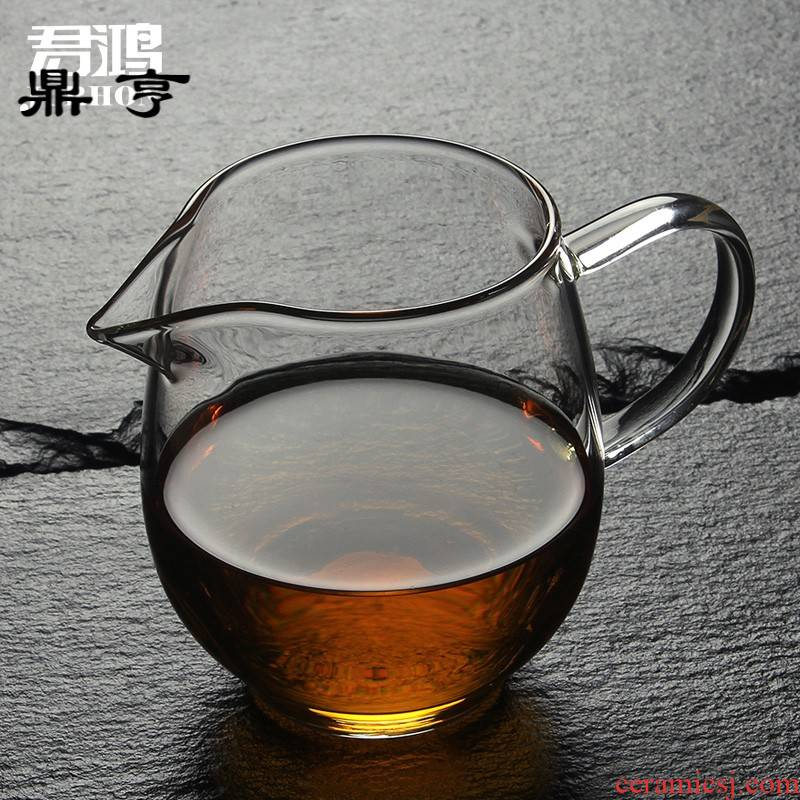 Ding heng thickening glass just a cup of tea sea heat resisting high temperature glass tea set points tea with tea and a cup of tea sea