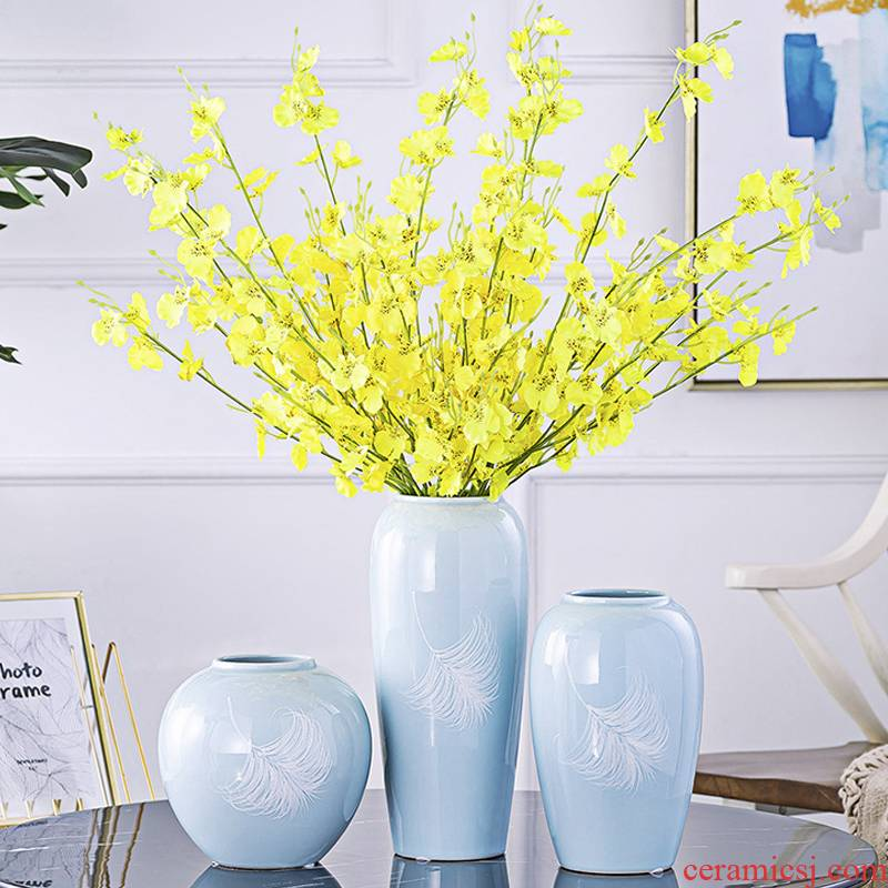 I and contracted creative ceramic mesa hydroponic floral decorations furnishing articles flower vase simulation TV ark, decoration