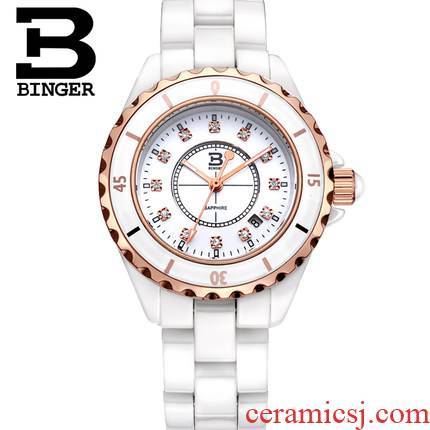 Clearance price is it accusative BINGER ceramic table ms female watches lovers table to table quartz watch