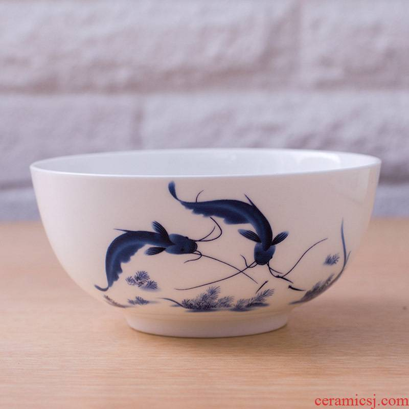 5 inch bowl of rice bowls jingdezhen ceramic ipads porcelain 7 inch 8 inches large soup bowl butterfly orchid home of blue and white porcelain bowl