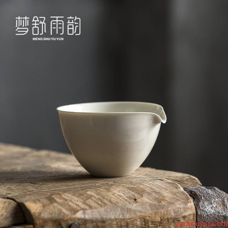Dream ShuYu rhyme points kung fu tea tea cups justice cup ceramic Japanese tea, a single large parts