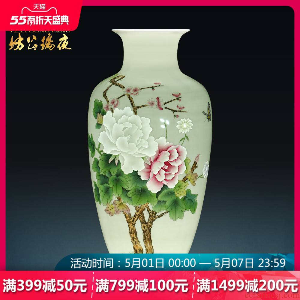 Jingdezhen ceramics hand - made famille rose blooming flowers, vases, flower arranging furnishing articles of Chinese style household act the role ofing is tasted, the sitting room decoration