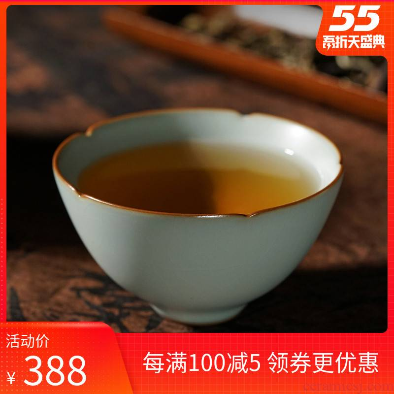 Ku cup manual single ru up market metrix who cup cup sample tea cup slicing can raise jingdezhen ceramic green already your porcelain up