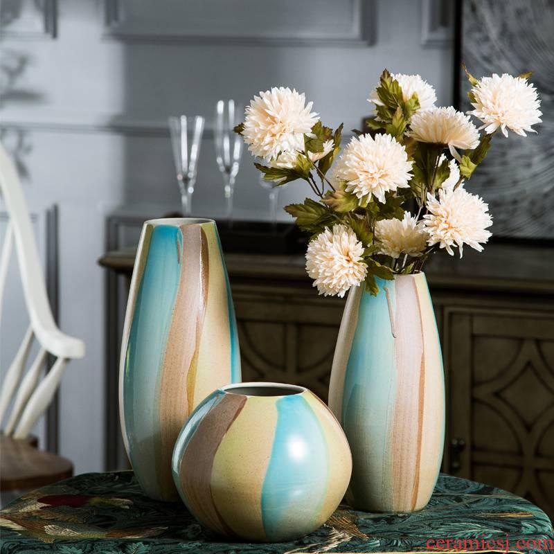 European American household adornment jingdezhen ceramic vase furnishing articles home sitting room dried flowers flower arrangement table decoration