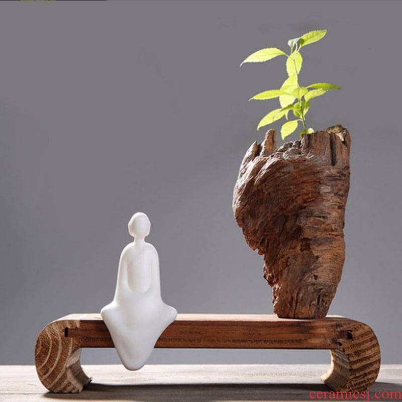 Chinese zen furnishing articles wooden white porcelain arts and crafts sitting room TV cabinet study soft outfit ceramic deserve to act the role of creative gift
