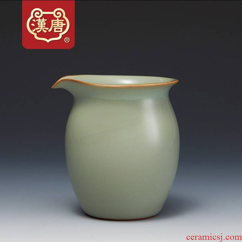 Han and tang dynasties to open the slice your up with jingdezhen ceramic fair keller of tea sea manual kung fu tea tea set large points, 335 ml