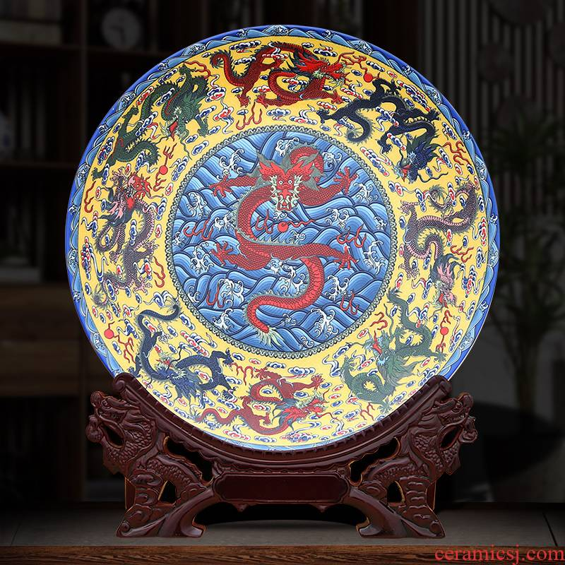 Figure decoration plate, Kowloon to industry