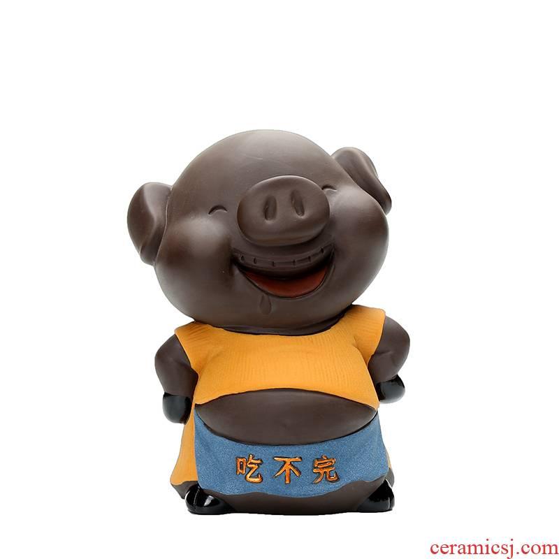 "Shadow enjoy creative color sand tao qian ""get piggy bank tea pet home furnishing articles desktop adornment eat HBZP"