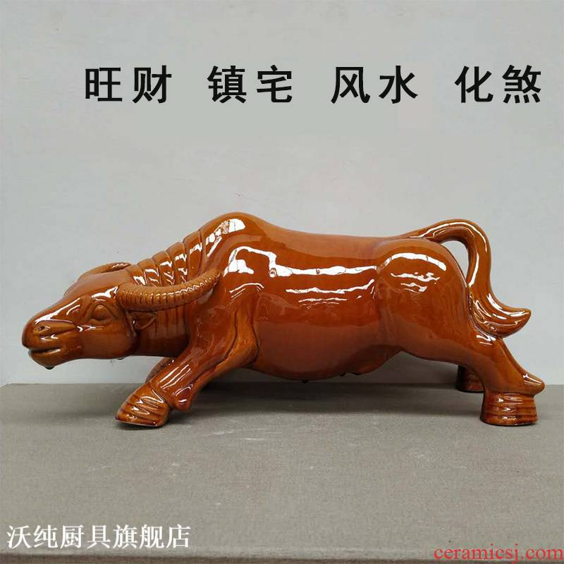 Furnishing articles Furnishing articles zodiac cattle sitting room adornment office furniture feng shui plutus tang sancai buffalo town curtilage ceramics