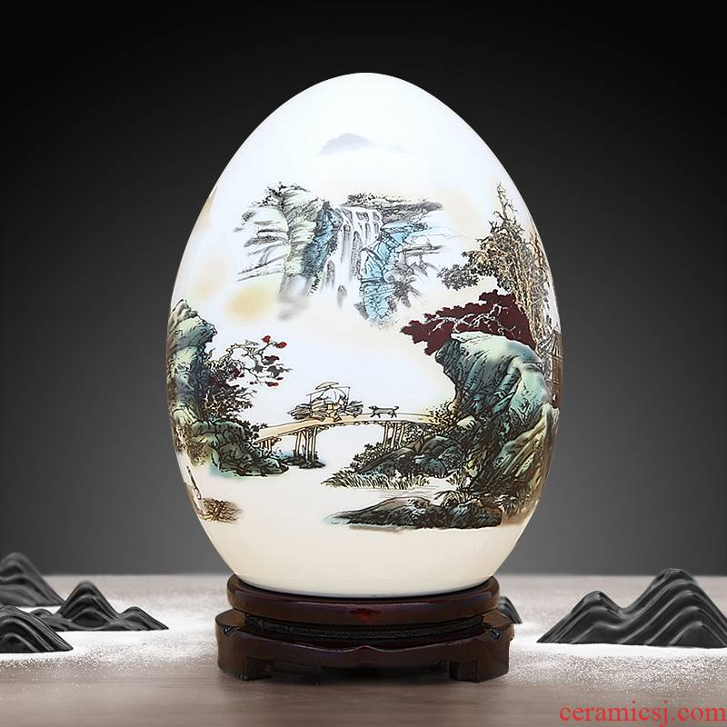 Jingdezhen ceramic f egg furnishing articles of the new Chinese style household act the role ofing is tasted creative indoor sitting room of rich ancient frame wine accessories