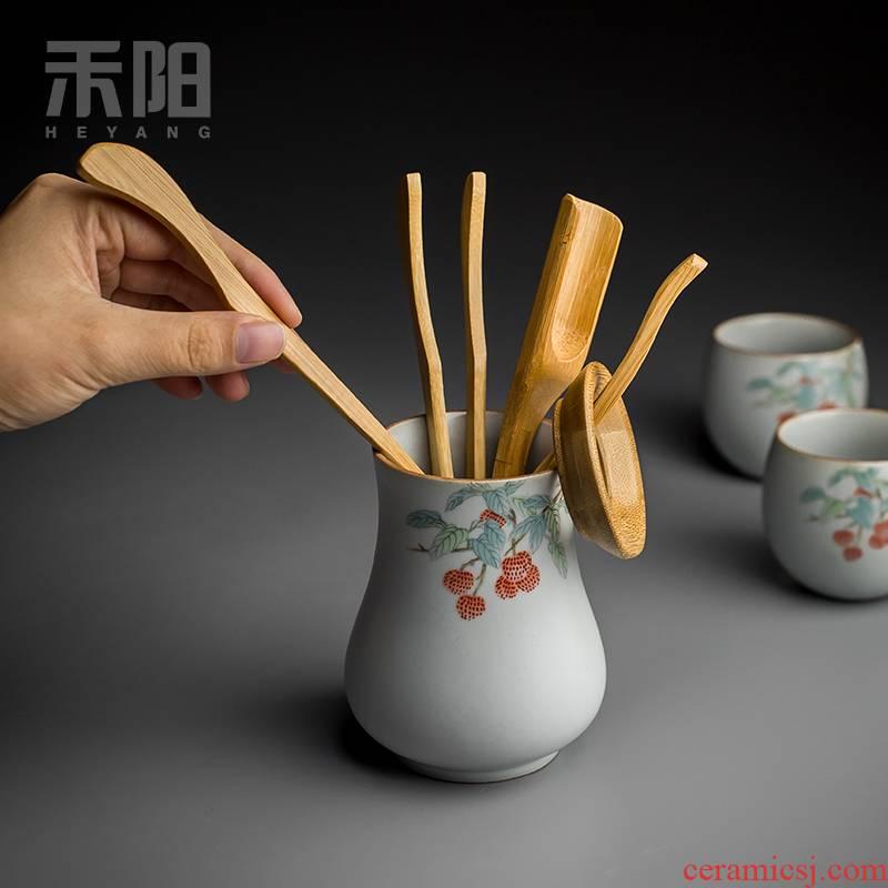 Send Yang your up ceramic 6 gentleman household kung fu tea tea accessories pen pin tea spoon clamps to suit
