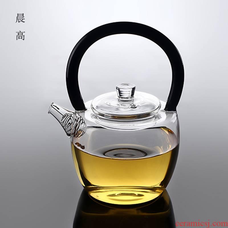 Morning high new feather heat - resisting teapot burn blisters teapot girder filtering pot of flower pot teapot kunfu tea