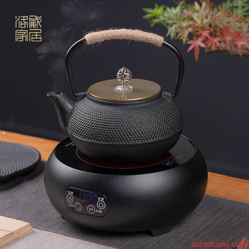 The teapot imitated Japanese iron pot manually cast iron tea kettle single pot TaoLu boiled tea machine household utensils