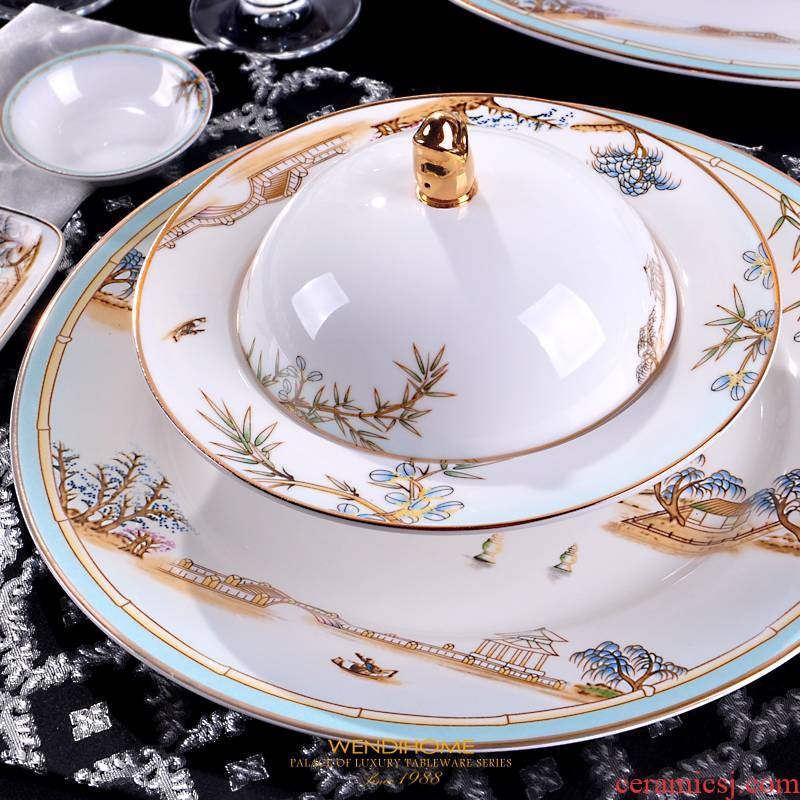 West lake ceramic stewing bowl with cover stove that bird 's nest sea cucumber sweet hotel restaurant tableware can be heated to offer them a wing