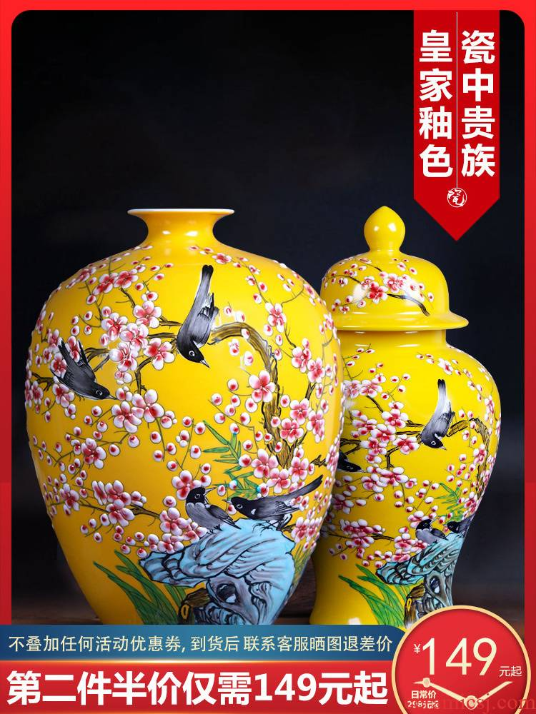 Jingdezhen porcelain hand - made ceramic vase beaming creative household decorates sitting room place pastel porcelain