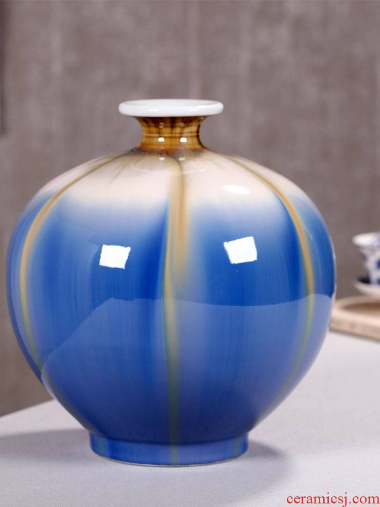 Jingdezhen ceramic vases, I and contracted flower arranging office furnishing articles wine ark, adornment of the sitting room porch decoration ideas