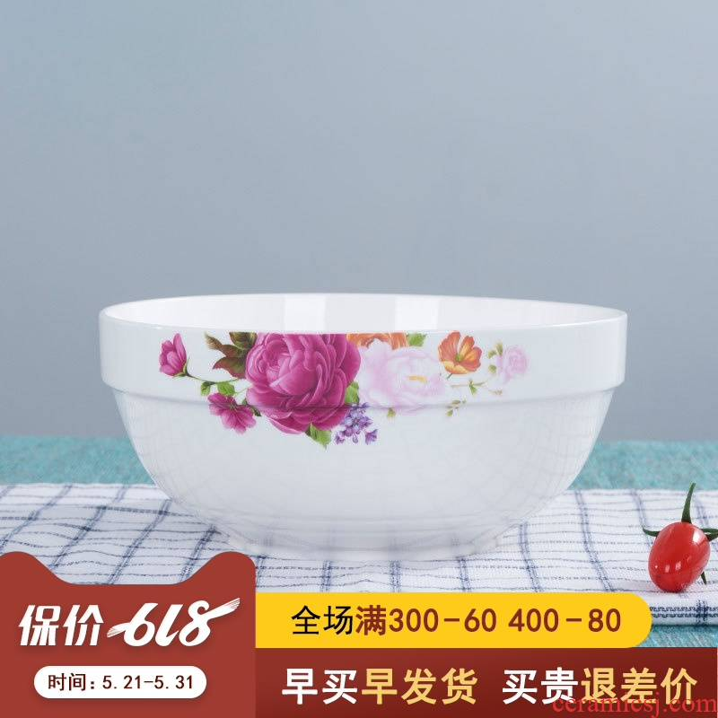 The Make - up to 8 inches large bowl of soup bowl rainbow such use microwave tableware creative Chinese style household large - sized ceramic bowl mercifully rainbow such use