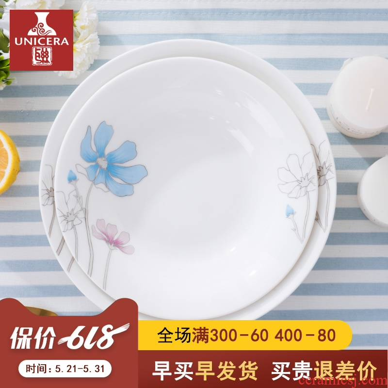 7/8 of an inch ceramic ipads China household new dish dish dish plate disc creative individual Nordic soup plate
