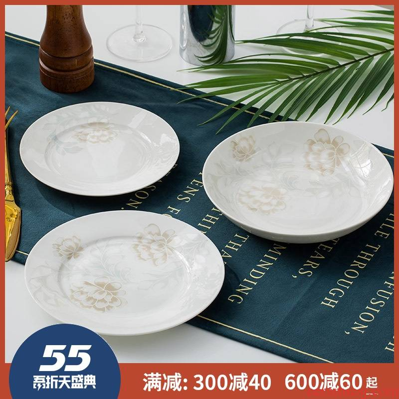Jingdezhen ceramic dish 7 inch plate 6 inches of ipads plate creative dish dish platter round dish plate
