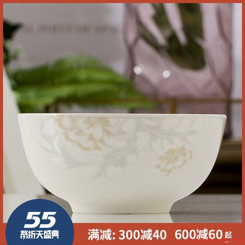 5 inch bowl of rice bowls jingdezhen ceramic ipads China 7 soup bowl eight inches large soup bowl Korean household can microwave oven