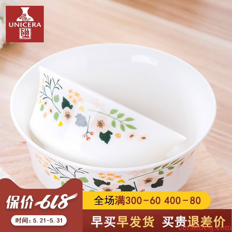 "Jingdezhen ceramic tableware creative move food dish soup plate with a single job 6/8 ""rainbow such as bowl soup bowl"