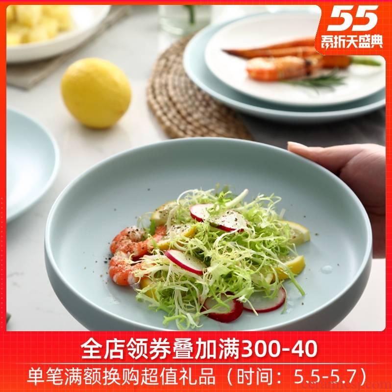 0 creative household contracted Japanese salad plates dumplings the jingdezhen ceramic deep dish breakfast tray web celebrity FanPan