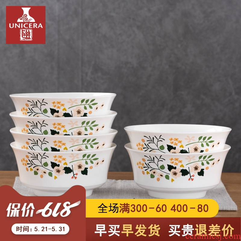 6 inch ceramic move household size bowl of noodles bowl creative ltd. soup bowl rainbow such as bowl bowl six sets of ipads porcelain bowl