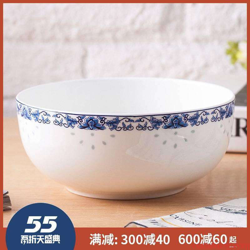 7 inch bowl of soup bowl 8 inch big ipads soup bowl of jingdezhen ceramic terms rainbow such use salad bowl bowls blue and white porcelain household