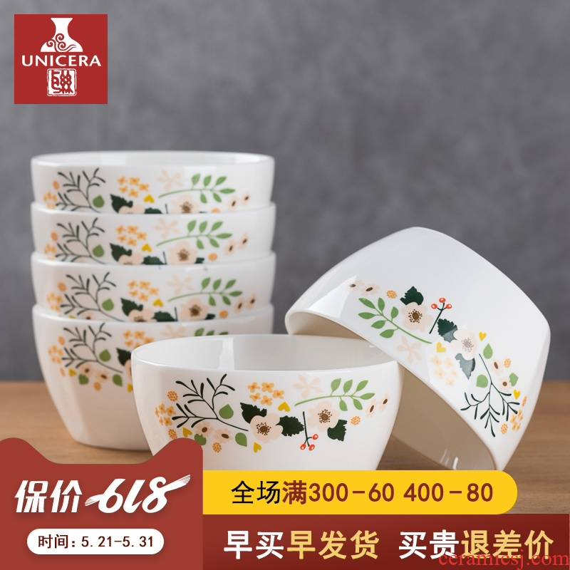 The Six jobs household small bowl of jingdezhen ceramic dinner adult move ipads porcelain tableware rice bowls creative combination