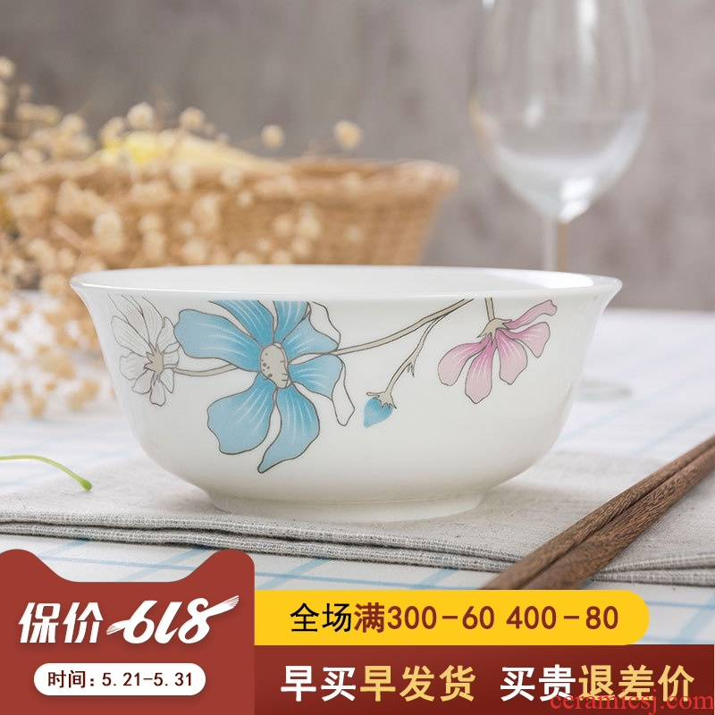 6 inches rainbow such as bowl bowl of jingdezhen ceramic household utensils large soup bowl. A single large bowl of noodles bowl bowl of plates