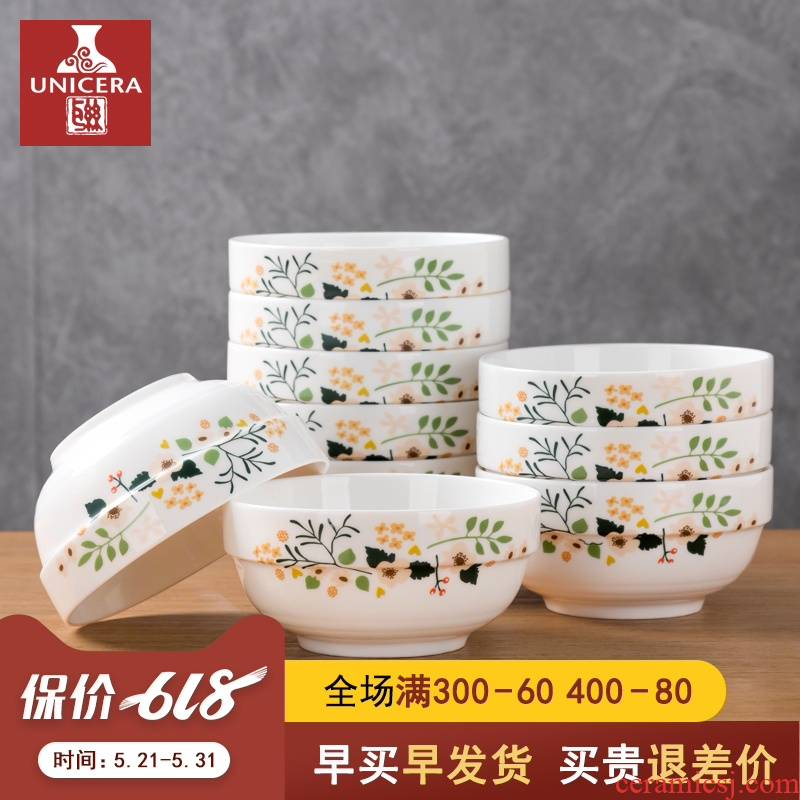 10 a to the set of dishes to eat rice bowls tableware jingdezhen ceramic bowl creative household suit ipads porcelain single rainbow such use