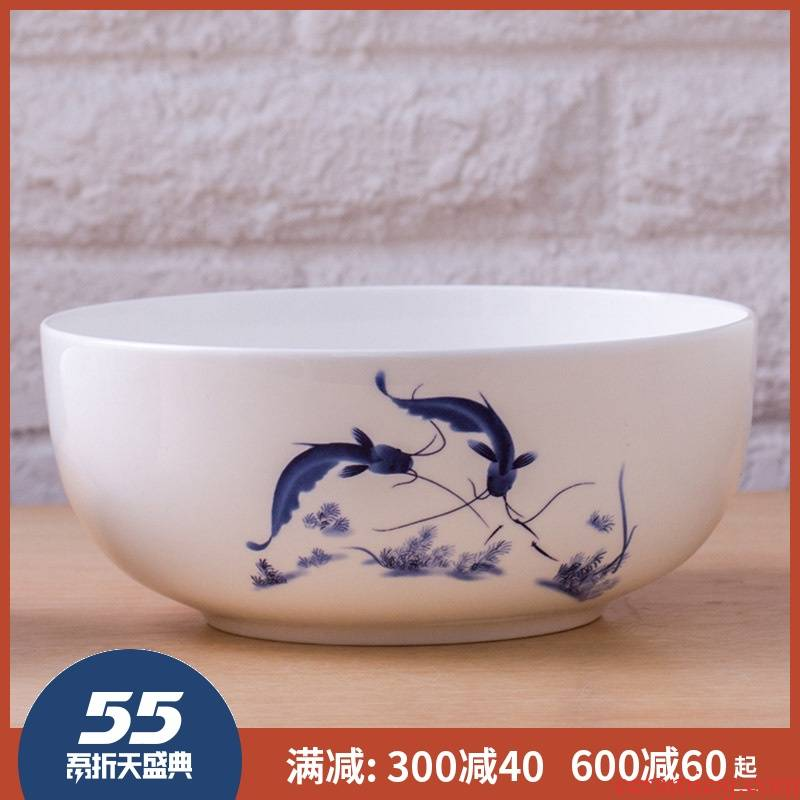 7 inch bowl 8 inch big bowl of jingdezhen ceramic terms rainbow such use salad bowl ipads porcelain butterfly orchid glair of blue and white porcelain