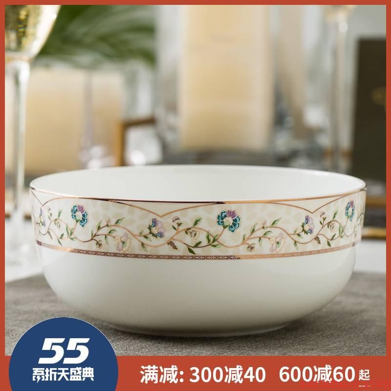 7 inch bowl 8 inch big bowl of jingdezhen ceramic terms rainbow such use salad bowl ipads porcelain Korean creative home