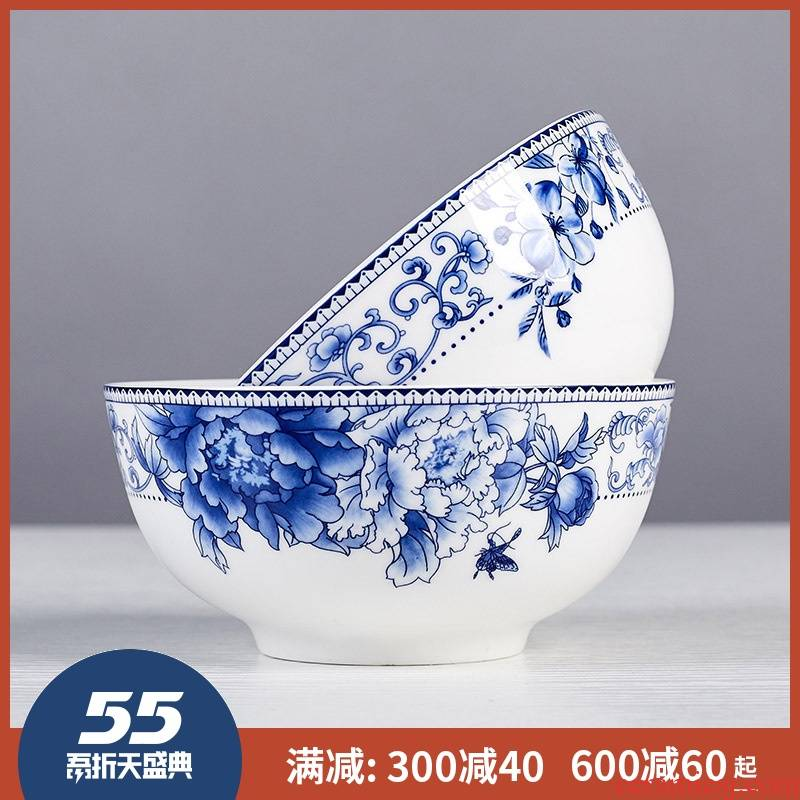 5 inch ceramic bowl of rice bowls jingdezhen ipads porcelain tableware restoring ancient ways is 8 inch large soup bowl noodles in soup bowl of blue and white porcelain household