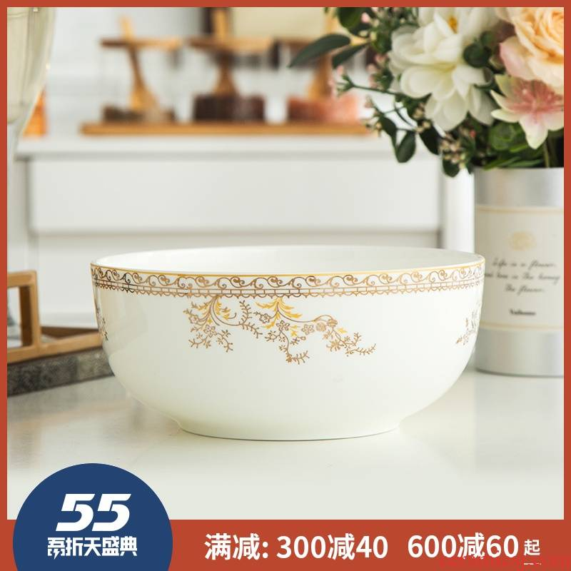 7 inches big bowl of soup bowl eight inch ceramic bowl mercifully rainbow such use salad bowl jingdezhen ipads China creative household size