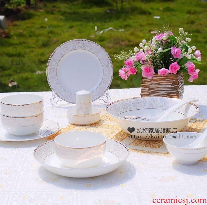 Jingdezhen ceramic tableware suit style up phnom penh ceramic dish dish household European - style combination informs the bowl chopsticks