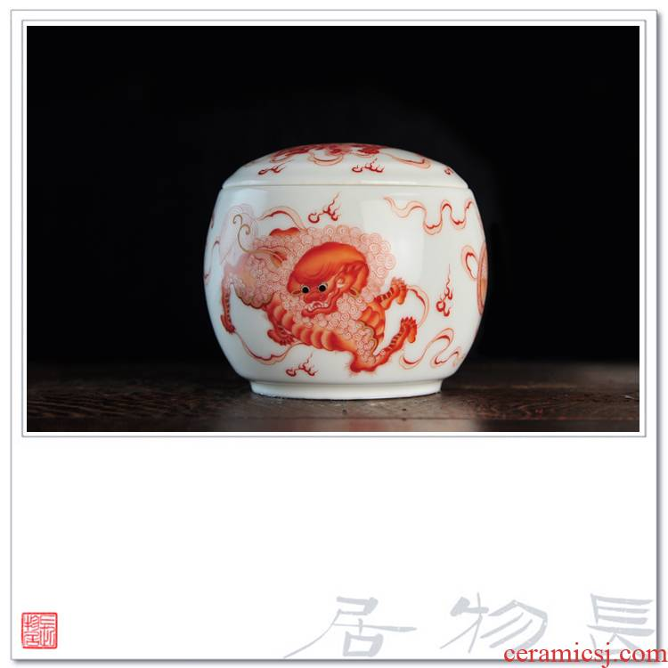 Offered home - cooked less pure hand - made alum in red t Pacific ceramic tea pot small jingdezhen porcelain tea by hand