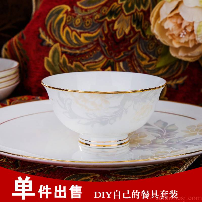 Jingdezhen ceramic tableware by hand the see colour of household of Chinese style crockery bowl dish dish free combination collocation