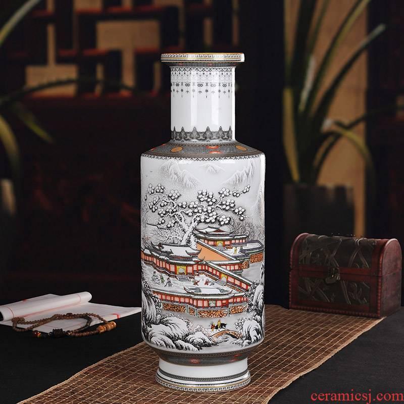 Jingdezhen ceramics of large vase household wine ark, decoration living room TV cabinet office furnishing articles