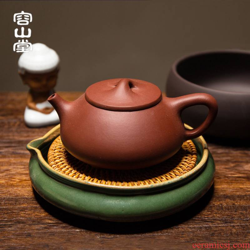 RongShan hall ling Ming jia the cane top service up by hand pot bearing are it coarse pottery zen dry terms tray of mini water tea table