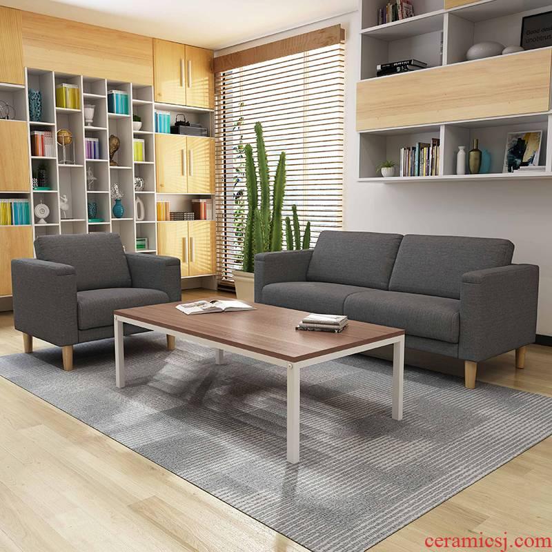 Small business visitor modern cloth art sofa office sofa combination Nordic sofa tea table
