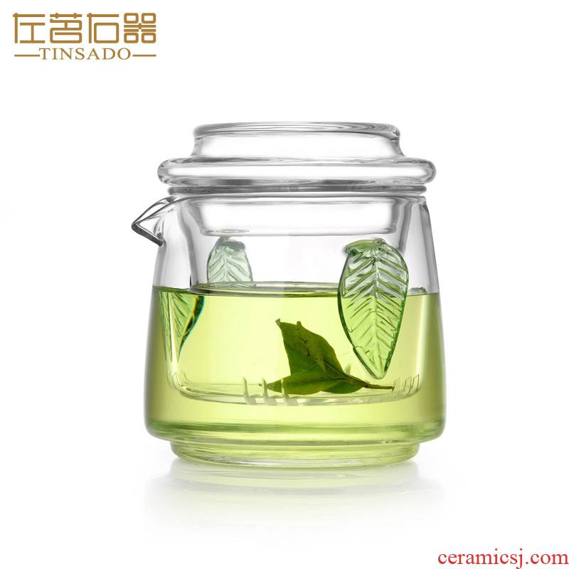 ZuoMing right implement of filter ears transparent black tea tea kungfu tea pot of small glass teapot 200 ml