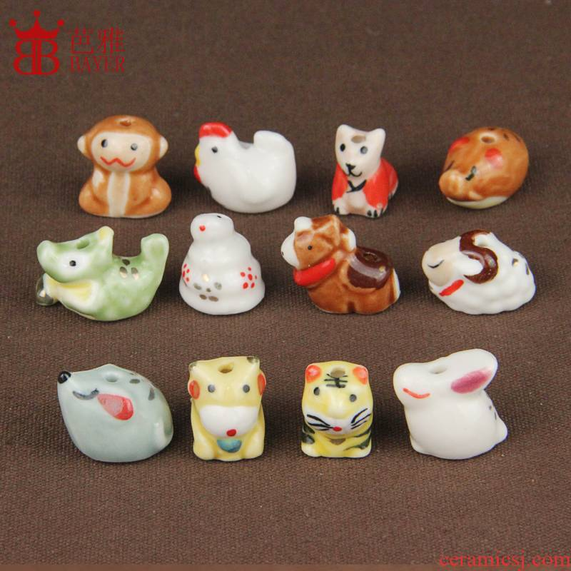 Ba jas zodiac ceramic parts, lovely diy zodiac ceramic manual small pendant jewelry materials scattered beads