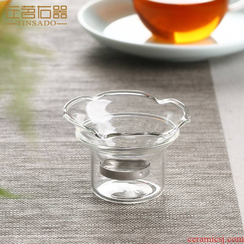 ZuoMing right implement creative tea glass tea strainer stainless steel) a cup of tea kungfu tea set with a cup of filter